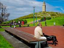The Torre de Hercules in the town of La Coruña in Galicia, Spain Royalty Free Stock Image