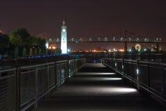 Torre de Horloge en la noche Fotos de archivo libres de regalías