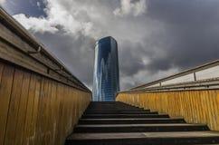 Torre de Iberdrola en毕尔巴鄂, España 免版税库存图片
