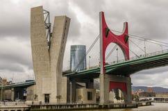 Torre de Iberdrola en Bilbao, España Arkivfoto