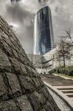 Torre de Iberdrola en Bilbao, España Arkivfoton