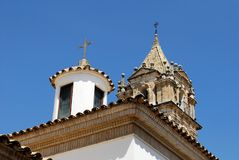 Torre de iglesia, Cabra Fotos de archivo libres de regalías