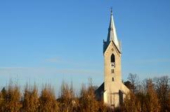 Torre de iglesia checa Fotografía de archivo libre de regalías