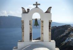 Torre de iglesia con una campana vieja Imagen de archivo libre de regalías