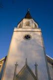 Torre de iglesia de madera imagenes de archivo