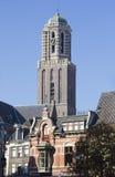 Torre de iglesia de Zwolle Imagen de archivo libre de regalías
