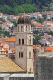 Torre de iglesia Dubrovnik Fotos de archivo