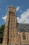 Torre de iglesia en Asperen imagen de archivo