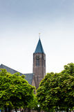 Torre de iglesia en Bussum Fotografía de archivo libre de regalías