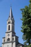 Torre de iglesia en Constanza Foto de archivo libre de regalías