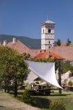 Torre de iglesia en Iulia Alba, Transilvania, Rumania Fotografía de archivo libre de regalías