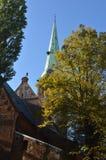Torre de iglesia en Riga Fotografía de archivo libre de regalías