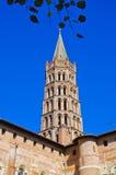 Torre de iglesia en Toulouse, Francia fotos de archivo libres de regalías