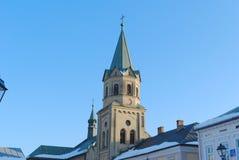 Torre de iglesia histórica Imágenes de archivo libres de regalías