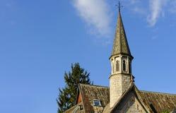 Torre de iglesia, lago Como Fotografía de archivo libre de regalías