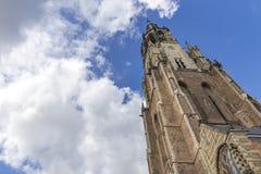 Torre de igreja da louça de Delft Fotos de Stock Royalty Free