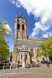 Torre de igreja da louça de Delft Fotografia de Stock Royalty Free