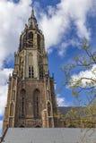Torre de igreja da louça de Delft Imagem de Stock Royalty Free