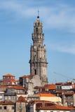 Torre de igreja de Clerigos em Porto Fotografia de Stock Royalty Free