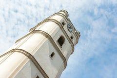 Torre de igreja de Csonkatemplom de Debrecen Fotografia de Stock