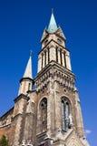 Torre de igreja de Ferencvaros em Budapest Imagens de Stock
