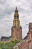 Torre de igreja de Groningen, Holanda Foto de Stock