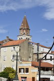 A torre de igreja em Zadaru Fotografia de Stock Royalty Free