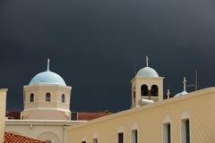 Torre de igreja na ilha de Kos Fotos de Stock