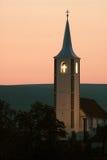Torre de igreja na Transilvânia Fotografia de Stock
