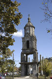 Torre de igreja velha Fotografia de Stock