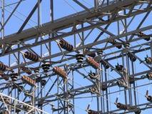 Torre de interruptor 2 da energia eléctrica imagem de stock