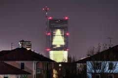 Torre de Isozaki (la recta), Milán Imagenes de archivo