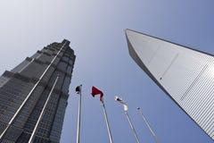 Torre de Jinmao e de Shimao Imagens de Stock