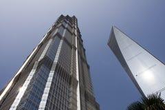 Torre de Jinmao e de Shimao Foto de Stock Royalty Free