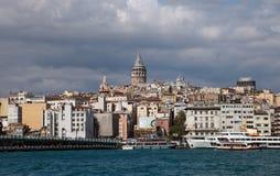 Torre de Karakoy y de Galata fotos de archivo libres de regalías