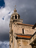 Torre de Korcula Chruch Imagem de Stock Royalty Free