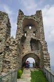 Torre de la Alda hermosa en Sacra di San Micaela, Turín Foto de archivo