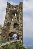Torre de la Alda hermosa en Sacra di San Micaela, Turín Fotografía de archivo libre de regalías