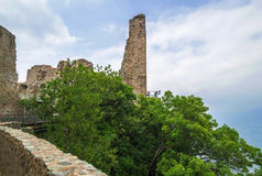 Torre de la Alda hermosa en Sacra di San Micaela, Turín Imagen de archivo