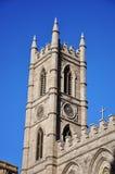 Torre de la basílica de Montreal Notre Dame Fotografía de archivo libre de regalías