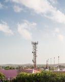 Torre de la célula en las zonas tropicales Imágenes de archivo libres de regalías