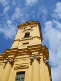 Torre de la catedral de Debrecen imagen de archivo