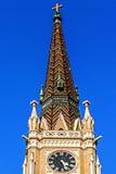 Torre de la catedral de St Mary en Novi Sad Imágenes de archivo libres de regalías