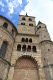 Torre de la catedral en el Trier, Alemania Foto de archivo
