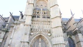 Torre de la catedral de Limoges almacen de video