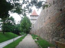 Torre de la cerámica en el viejo centro de ciudad de Sibiu Imagen de archivo