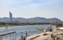 Torre de la ciudad de Danubio Imagen de archivo libre de regalías