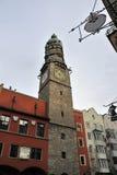 Torre de la ciudad en Innsbruck Imágenes de archivo libres de regalías