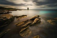 Torre de la costa de Cap Corse imagen de archivo libre de regalías