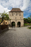 Torre de la defensa en Sighisoara imágenes de archivo libres de regalías